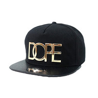 Fashion Cool Adjustable Snapback Hip-hop Baseball Cap Hat Unisex (Black)