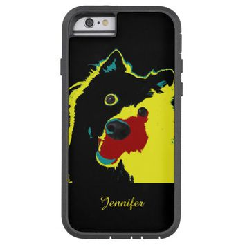Happy Yellow Dog Personalized Japanese Spitz Tough Xtreme iPhone 6 Case