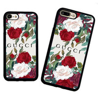Luxury!!Gucci.14 Rose Floral Stylish Case For iPhone 6 6+ 6s 6s+ 7 7+ 8 8+ X