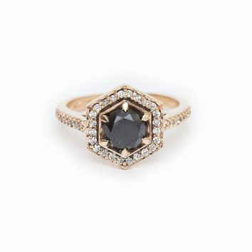 Hex Engagement Ring