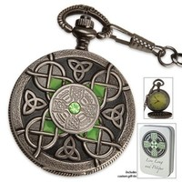 Celtic Pocket Watch And Tin