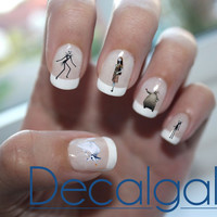 Halloween Nightmare Before Christmas Nail Art Water Transfer Decal - Waterslide Paper - Water Slide Paper