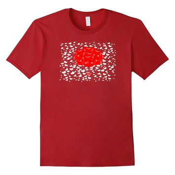 Valentines Day Red Balloon Hearts Funny Cute T-Shirt Tee