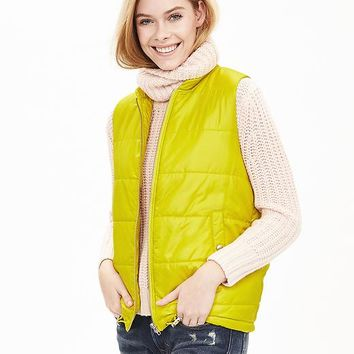 Banana Republic Womens Drawstring Puffer Vest
