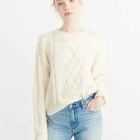 Womens Cropped Crewneck Sweater | Womens New Arrivals | Abercrombie.com