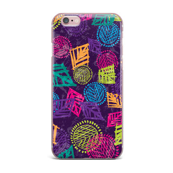 "Emine Ortega ""African Beat Purple"" iPhone Case"