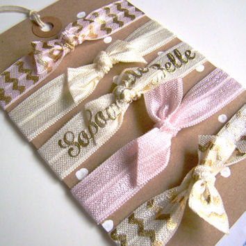 Southern Girl, Stocking Stuffer, FOE, Elastic Hair Ties, Christmas Hair Ties, Southern Belle, Holiday, Small Gift, Pink