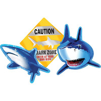 Cutout Assortment Shark Splash/Case of 36