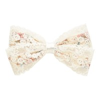 Floral Lace Bow Clip - Forever New