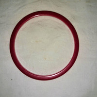 Vintage Bakelite Cherry Red Bangle