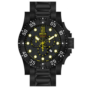 Invicta 14453 Men's Jason Taylor Excursion Black Dial Black IP Steel Dive Chronograph Watch