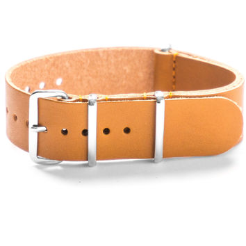 LEATHER NATO STRAP HONEY