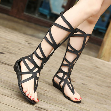 Summer Woman Fashion Wedge  Gladiator Sandal For Women