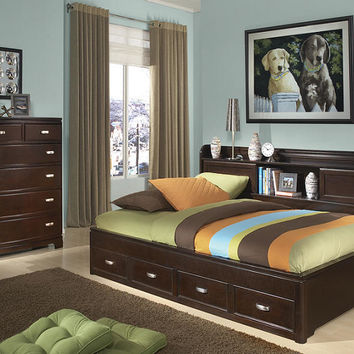 Alexander Twin Size Big Bookcase Bed