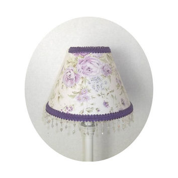 Shabby Chic Lilac Wildflowers fabric ~ Lamp Shade by ToileChicBoutique