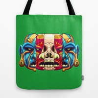 Warrior Unmasked Tote Bag by Artistic Dyslexia | Society6