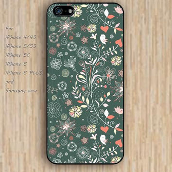 iPhone 5s case flowers bird colorful iphone case,ipod case,samsung galaxy case available plastic rubber case waterproof B041