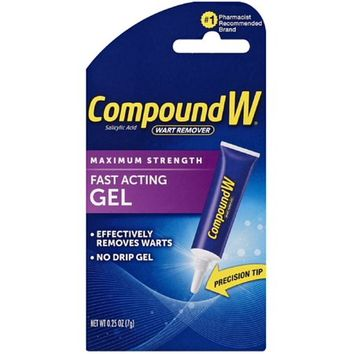 Compound W Wart Remover Fast Acting Gel Maximum Strength, 0.25 Oz - Walmart.com
