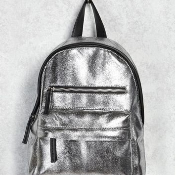 Metallic Textured Backpack