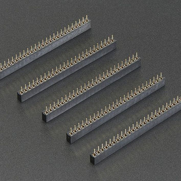 2mm Pitch 25-Pin Female Socket Headers - Pack of 5