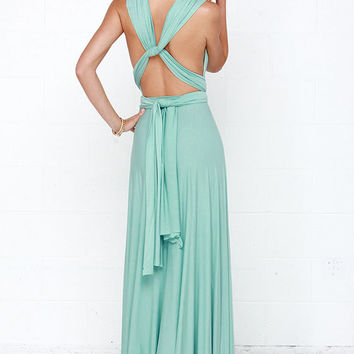 Tricks of the Trade Mint Green Maxi Dress