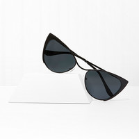 Point Blank Cat Eye Sunglasses - Black