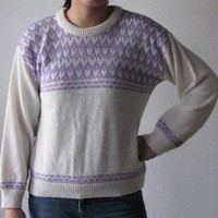 Shop Sale Vintage 80s Heart Sweater