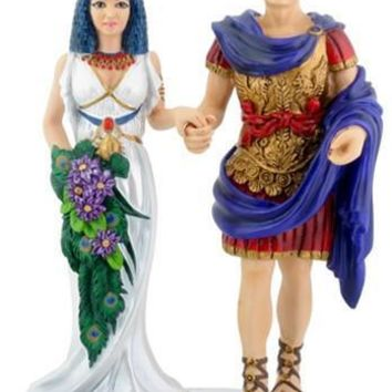 Cleopatra and Mark Antony Wedding Cake Topper - 8146