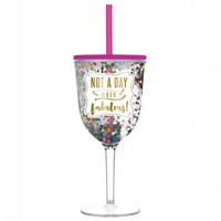 Not a Day Over Fabulous Confetti Acrylic Wine Tumbler