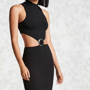 O-Ring Bodycon Mini Dress