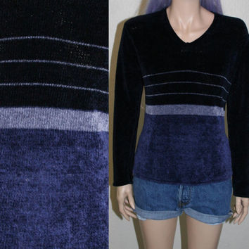90s knit chenille sweater soft fuzzy blue hipster grunge boho hippie xs s holiday party 70s oversize oversize s slouchy