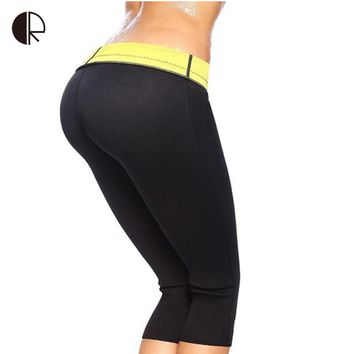 HOT  Women's Fat Burning  Body shapers Control Panties Size S~ XXXL Super Stretch Neoprene Slimming Pants Free Shipping WP586