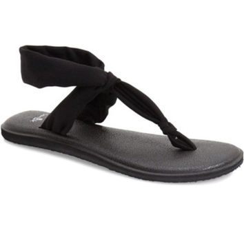 Sanuk Yoga Sling Ella Black Sandals