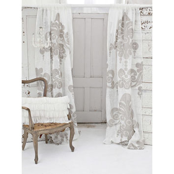 Couture Dreams Enchantique Linen Gauze Window Single Curtain Panel & Reviews | Wayfair