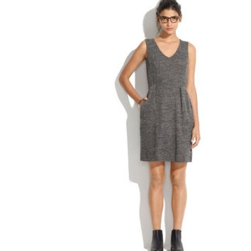 Madewell Sleeveless Tweed Dress