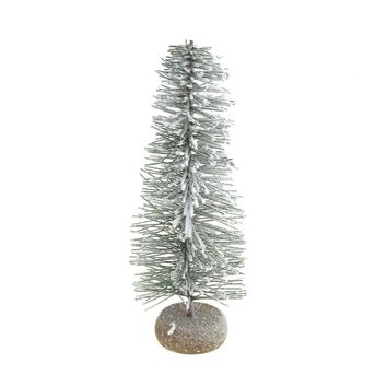 Mini Blizzard Frosted Village Christmas Tree Decoration, 9-Inch