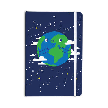 "Kess Original ""Happy Earth"" Blue Green Everything Notebook"