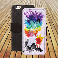 iphone 5 5s case Running Fox watercolor colorful iphone 4/4s iPhone 6 6 Plus iphone 5C Wallet Case,iPhone 5 Case,Cover,Cases colorful pattern L218