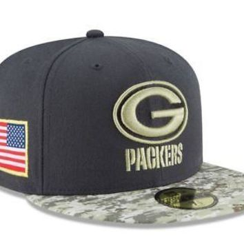 Green Bay Packers New Era 59FIFTY NFL Salute To Service Fitted C 47f386e69