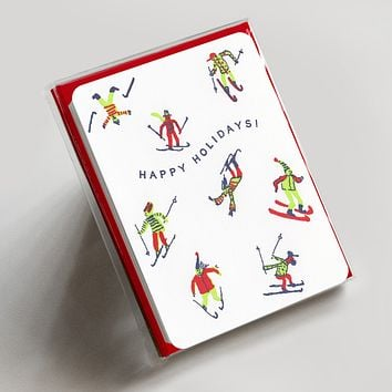 Happy Holidays Skiers Boxed Set