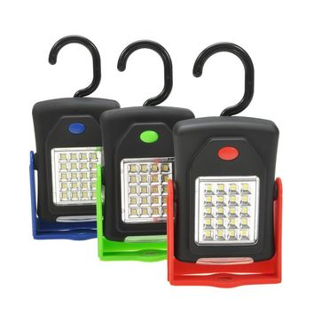 Portable LED Night Light Flashlight LED Torch Lantern Work Light 23 LED Camping Bicycle Lamp with Built-in Magnet Hook