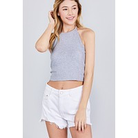 Halter Rib Crop Top