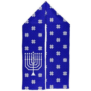 DCCKU3R Ugly Hanukkah Sweater Big Menorah Warm Fleece Scarf