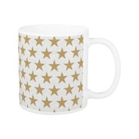 golden stars background coffee mug