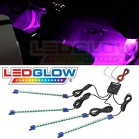 LEDGlow 4pc. Pink LED Interior Underdash Lighting Kit