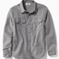 Patterned Built-In Flex Flannel Shirt for Boys | Old Navy