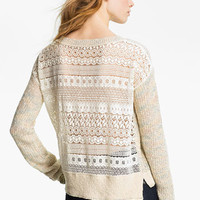Free People 'Sweet Jane' Lace Back Sweater | Nordstrom