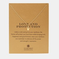 Dogeared Gold Plated Heart Hamsa Love and Protection Necklace