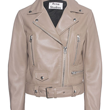 ACNE STUDIOS Mock Beige Lamb leather biker jacket - Jackets & Coats
