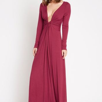 Brett Twist Front Maxi Dress